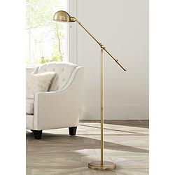 Dawson Antique Brass Pharmacy Floor Lamp
