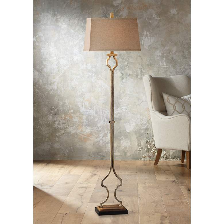 "Uttermost Vincent 65"" High Hand-Forged Metal Floor Lamp"