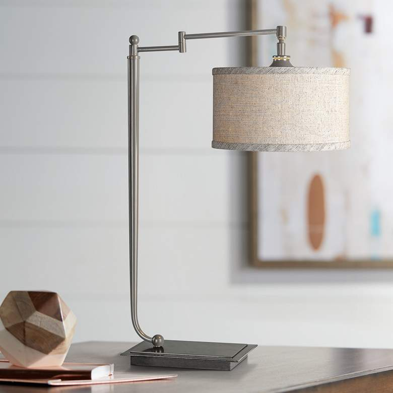 Uttermost Lamine Pivot Arm Iron Desk Lamp