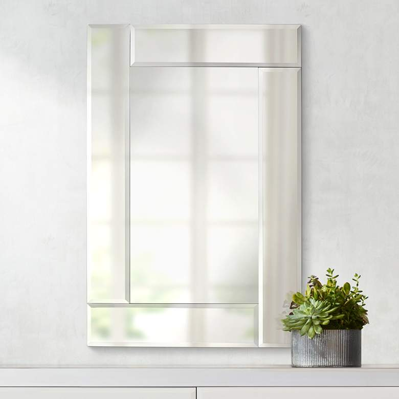 "Royal Beveled Frameless 24"" x 36"" Rectangular Wall Mirror"
