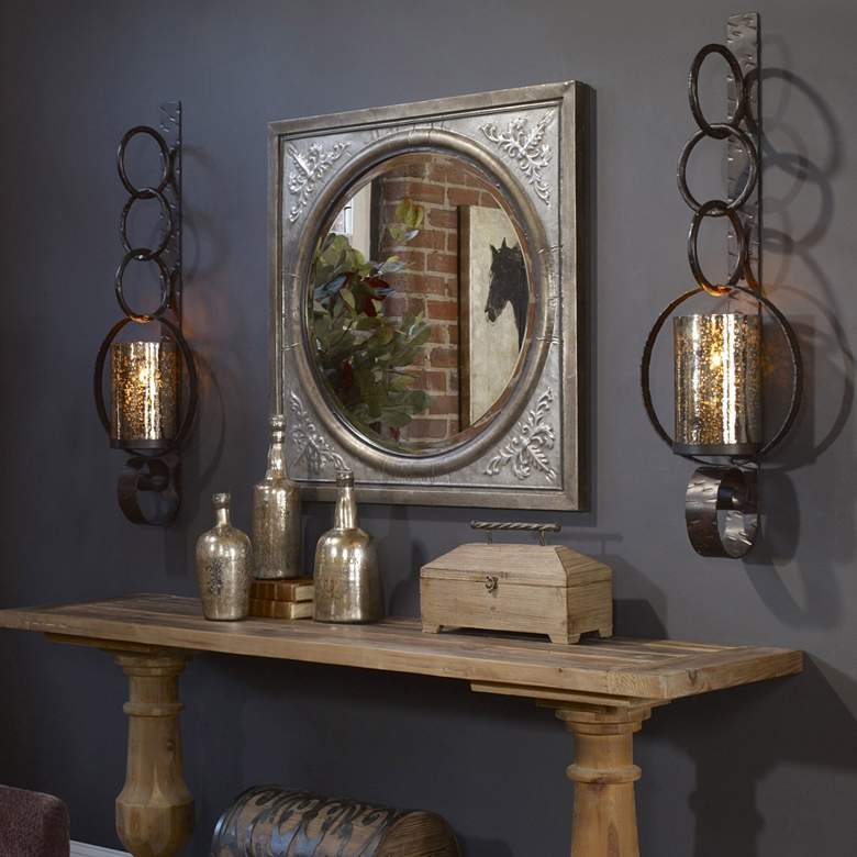 "Falconara 39"" High Candle Wall Sconce with Candle"