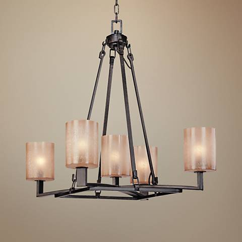 "Austin 27 1/4"" Wide Antique Bronze Chandelier"