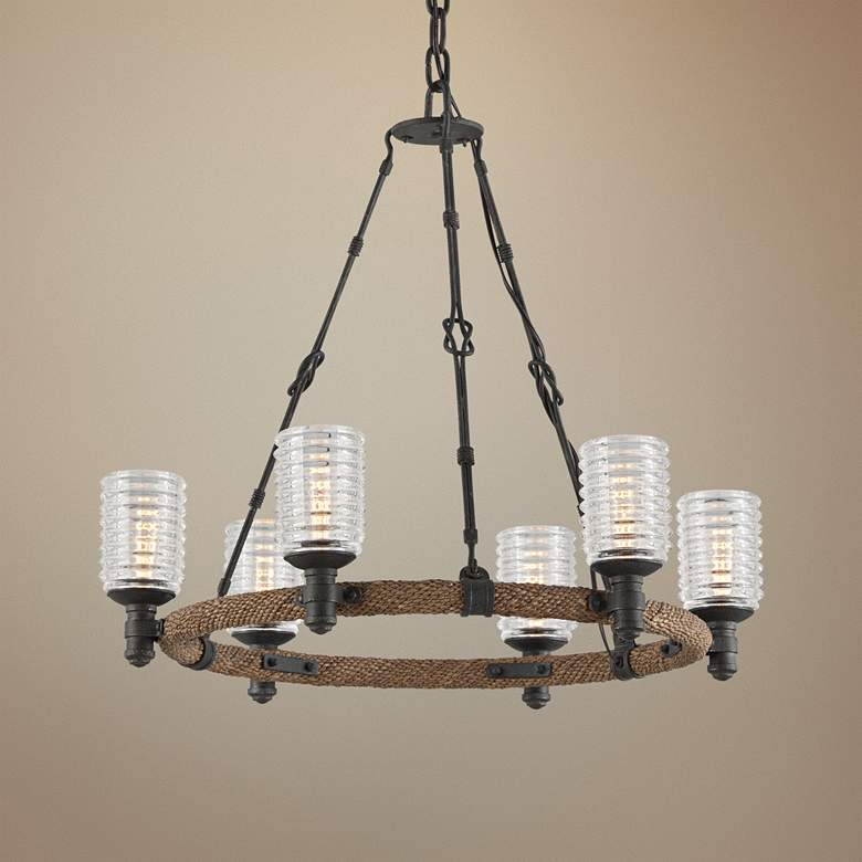 "Embarcadero 25 1/4"" Wide Shipyard Bronze Chandelier"