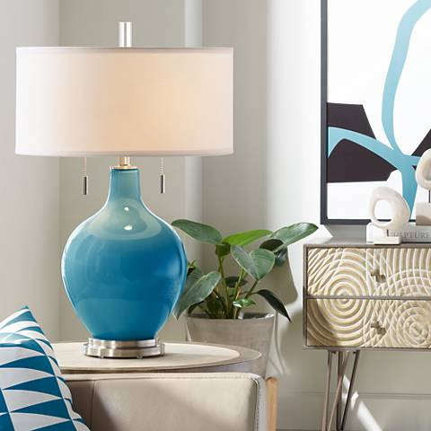Mykonos Blue Toby Table Lamp