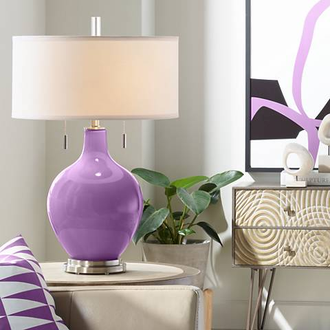 Passionate Purple Toby Table Lamp