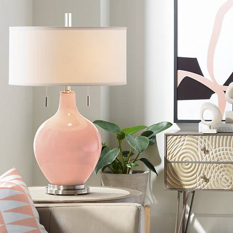 Mellow Coral Toby Table Lamp