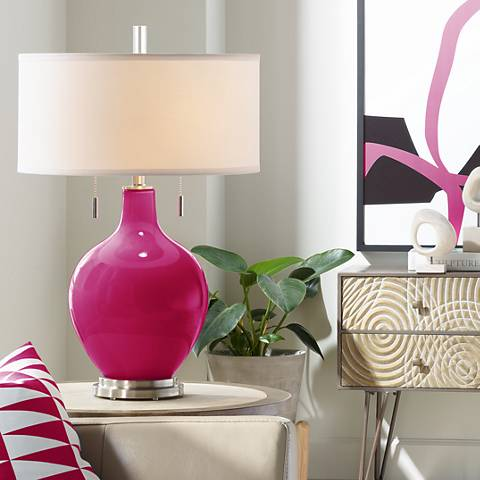 French Burgundy Toby Table Lamp