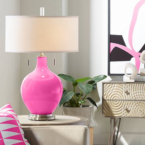 Blossom Pink Toby Table Lamp