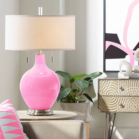 Pale Pink Toby Table Lamp