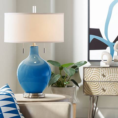 Hyper Blue Toby Table Lamp