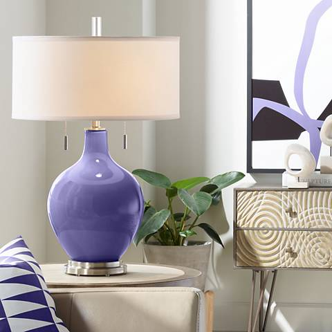 Valiant Violet Toby Table Lamp