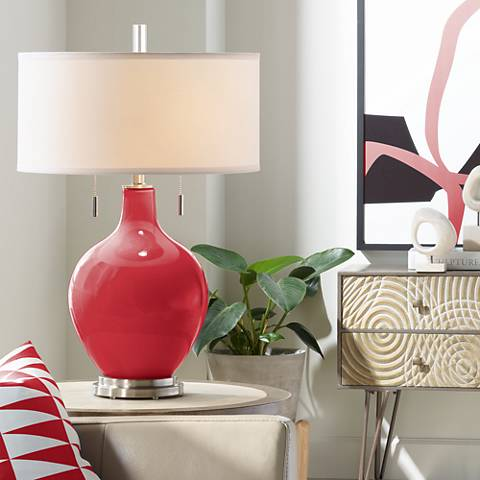 Ribbon Red Toby Table Lamp