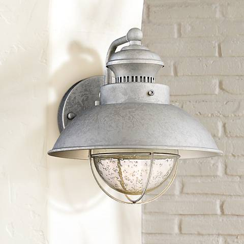 "Fordham 8 1/2"" High Galvanized LED Outdoor Wall Light"