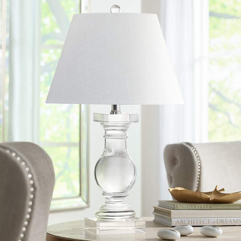 Kersey Solid Crystal Balustrade Table Lamp