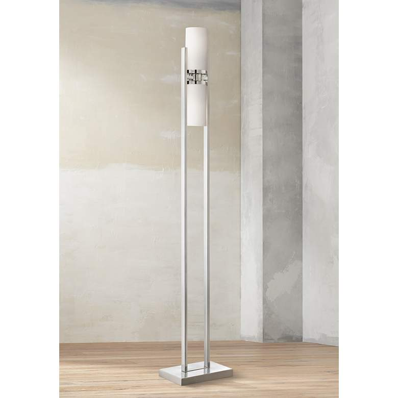 Lite Source Caesarea 2-Post Chrome Floor Lamp