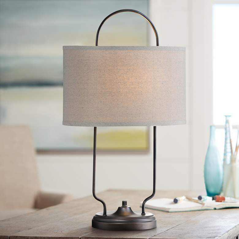 Lite Source Baldwin Vintage Bronze Linear Table Lamp