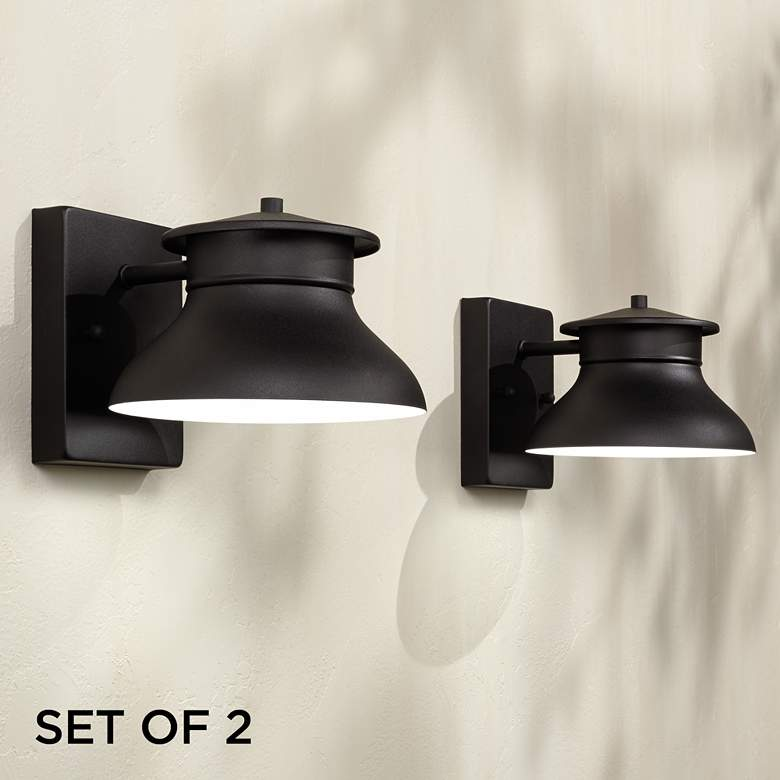 "Danbury 5"" High Black LED Outdoor Wall Lights"