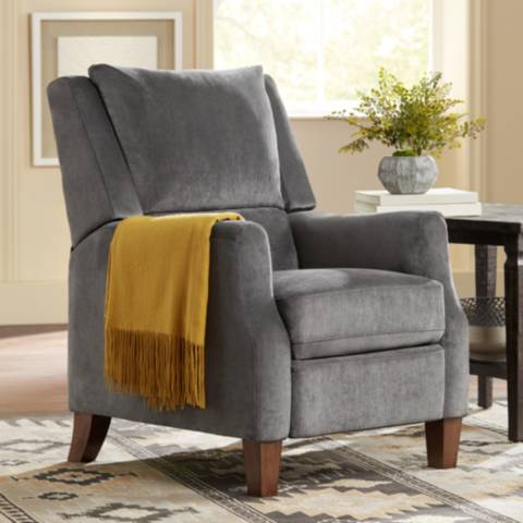 Irina Gray Velvet Recliner Chair 1p146 Lamps Plus