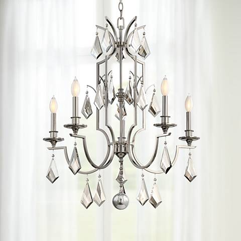 "Savoy House Ballard 27"" Wide Polished Nickel Chandelier"
