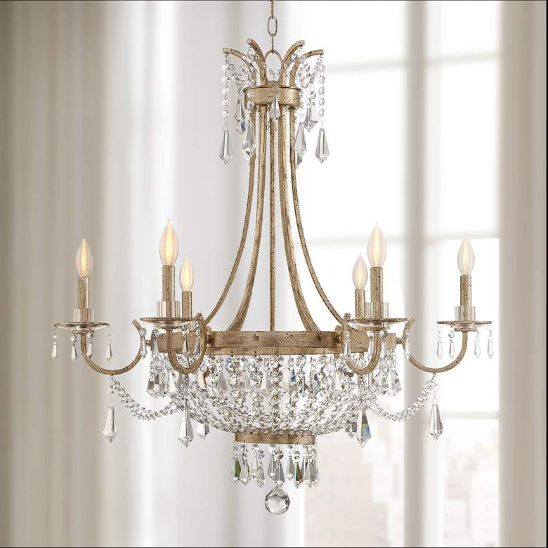 "Savoy House Claiborne 33"" Wide Avalite Chandelier"