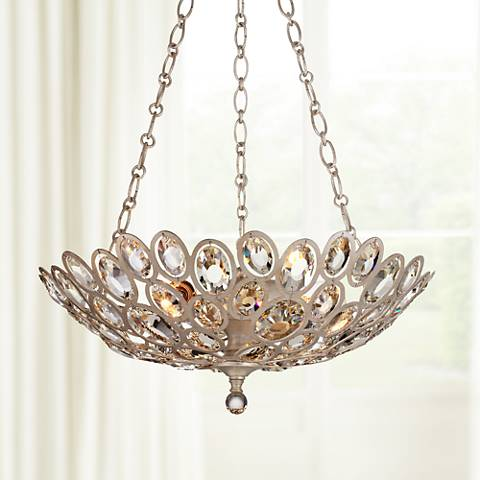 "Crystorama Sterling 20"" Wide Twilight 3-Light Chandelier"