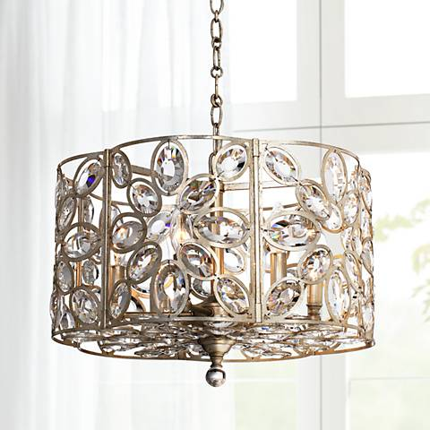 "Crystorama Sterling 18""W Twilight 6-Light Drum Chandelier"
