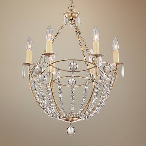 "Crystorama Waverly 22 1/4""W Twilight 6-Light Chandelier"