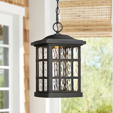 "Stonington 15""H Mystic Black LED Outdoor Hanging Light"