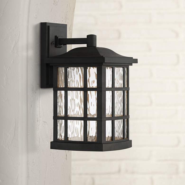 "Stonington 15 1/2"" High Mystic Black LED Outdoor Wall Light"