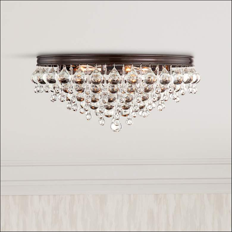 "Crystorama Calypso 20""W Glass Balls Bronze Ceiling Light"
