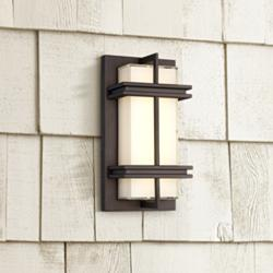 "Possini Euro Stanfield 12"" High Bronze LED Wall Light"