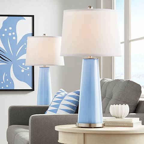 Placid Blue Leo Table Lamp Set of 2