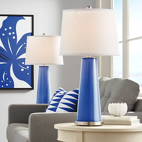 Dazzling Blue Leo Table Lamp Set of 2