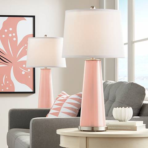 Mellow Coral Leo Table Lamp Set of 2