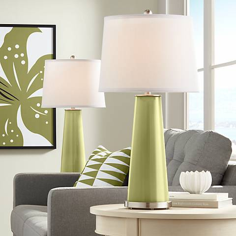 Rural Green Leo Table Lamp Set of 2