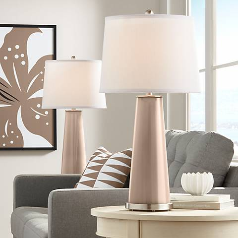 Mocha Leo Table Lamp Set of 2