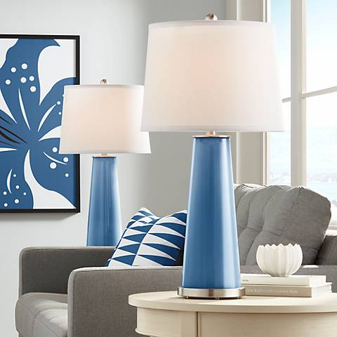 Regatta Blue Leo Table Lamp Set of 2