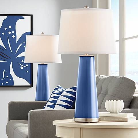 Monaco Blue Leo Table Lamp Set of 2