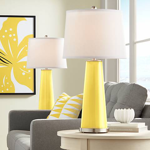 Lemon Zest Leo Table Lamp Set of 2