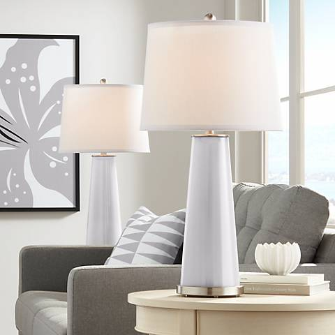 Swanky Gray Leo Table Lamp Set of 2