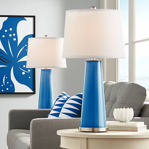 Hyper Blue Leo Table Lamp Set of 2