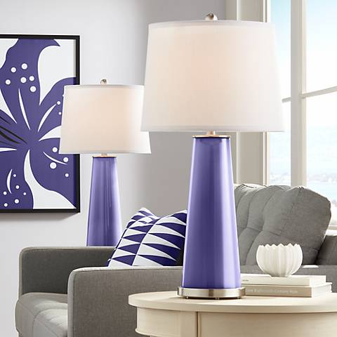 Valiant Violet Leo Table Lamp Set of 2
