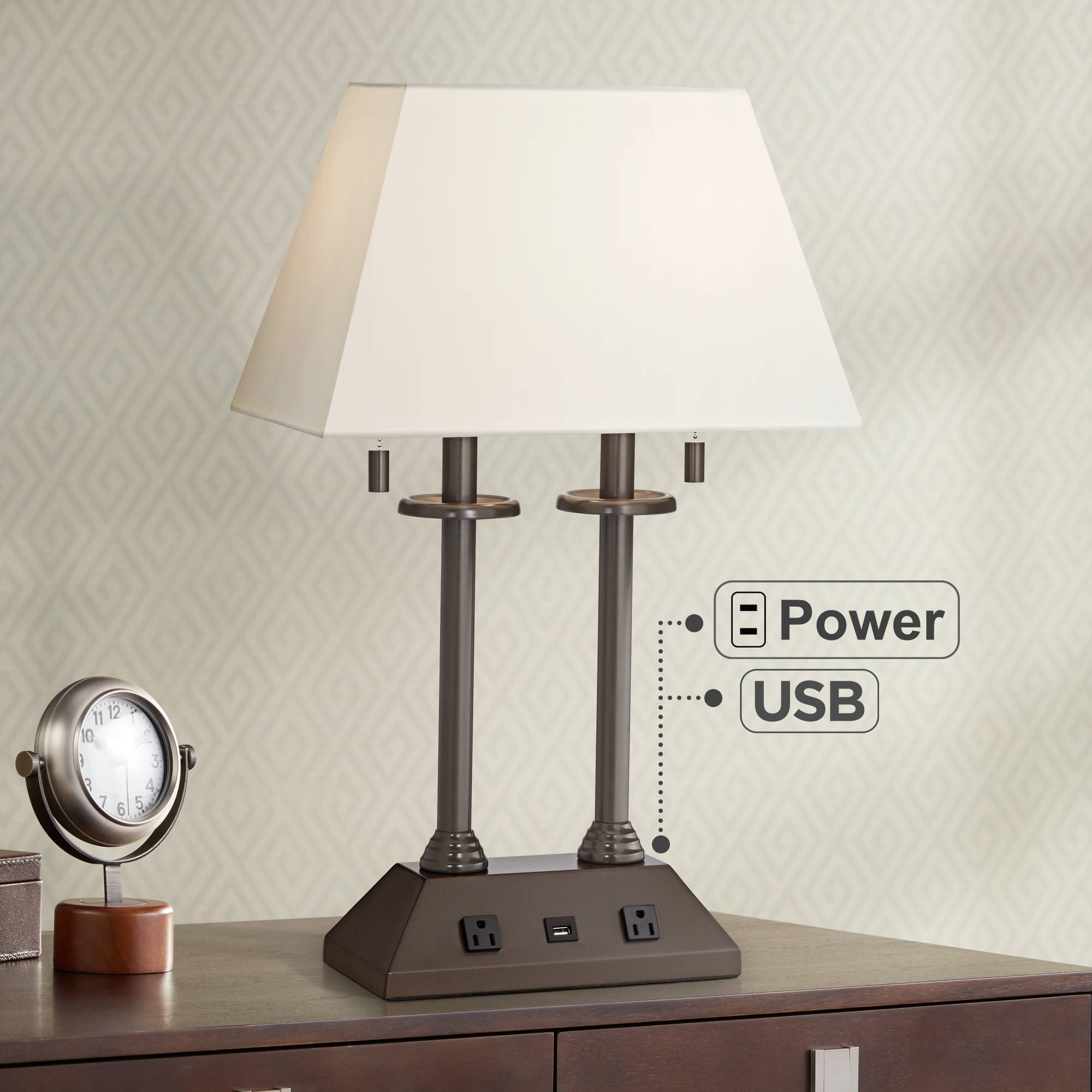 Corey Swing Arm Desk Lamp With Usb Port 6t840 Lamps Plus