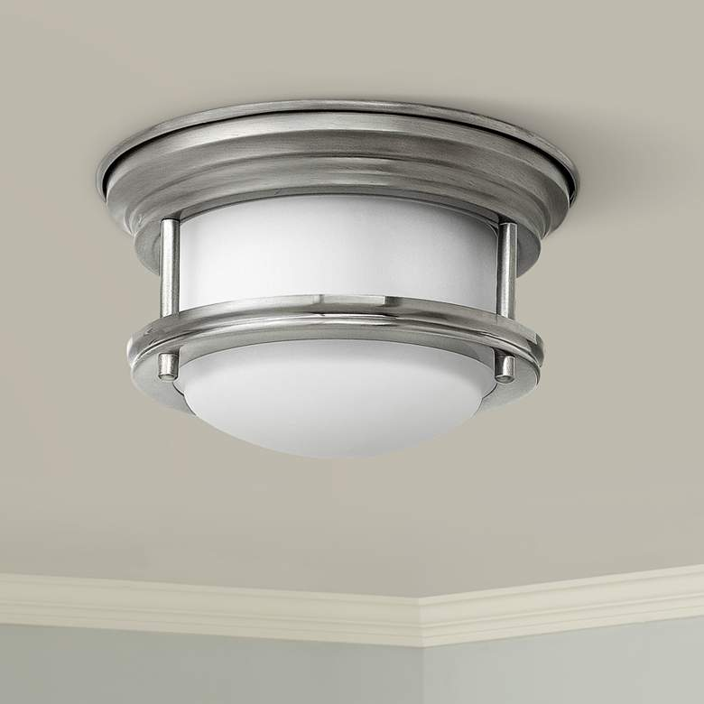 "Hinkley Hathaway 7 3/4"" Wide LED Opal Glass Ceiling Light"