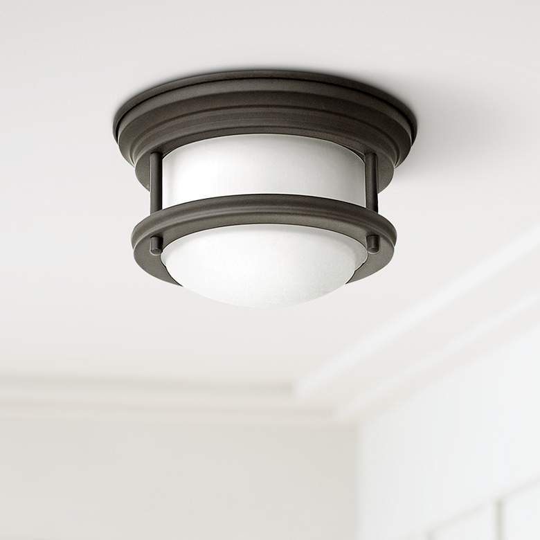 "Hinkley Hathaway 7 3/4""W LED Oiled Bronze Ceiling Light"