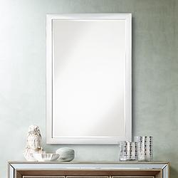"Possini Euro Metzeo Chrome 22"" x 33"" Wall Mirror"