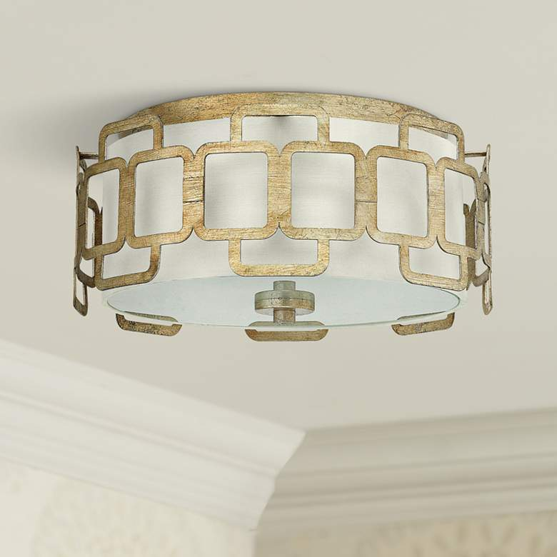 "Hinkley Sabina 15"" Wide Silver Leaf Round Ceiling"