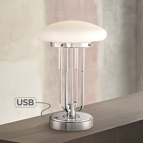 "Possini Euro Broadway 17 1/2""H LED Desk Lamp with USB Port"