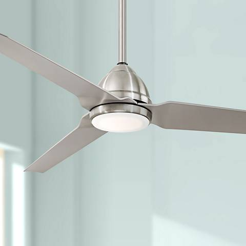 "54"" Minka Aire Java Brushed Nickel Wet Ceiling Fan"