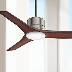 "52"" Casablanca Piston Brushed Slate LED Outdoor Ceiling Fan"